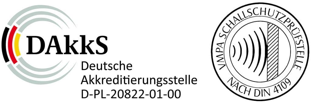 DAkkS und VMPA-Prüfstelle gem. DIN 4109